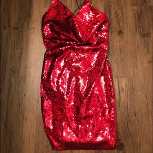 Fashion Nova Dresses - Fashion Nova Red Sequin Dress